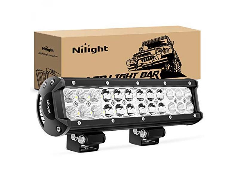 Nilight - NI06A-72W 12Inch 72W Spot Flood Combo Led Light Bar