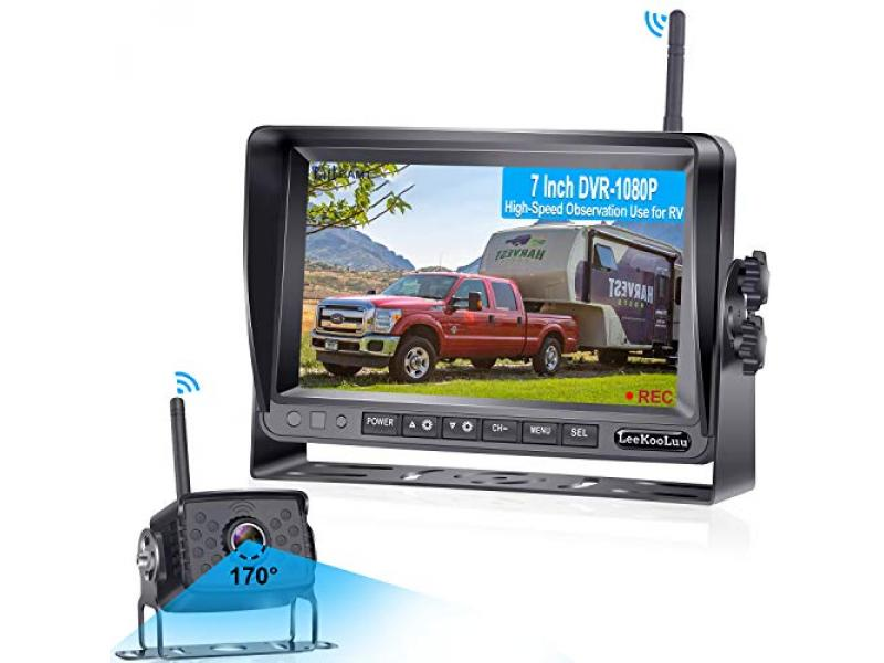 LeeKooLuu LK7 RV Wireless Backup Camera HD 1080P 7 Inch