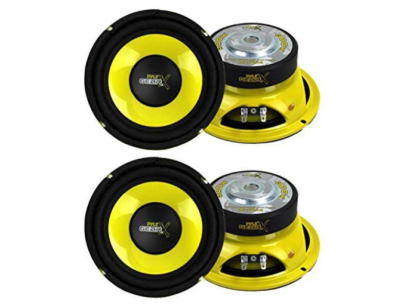 Pyle PLG64 6.5 1200W Car Audio Mid Bass/Midrange Subwoofer Speaker Set