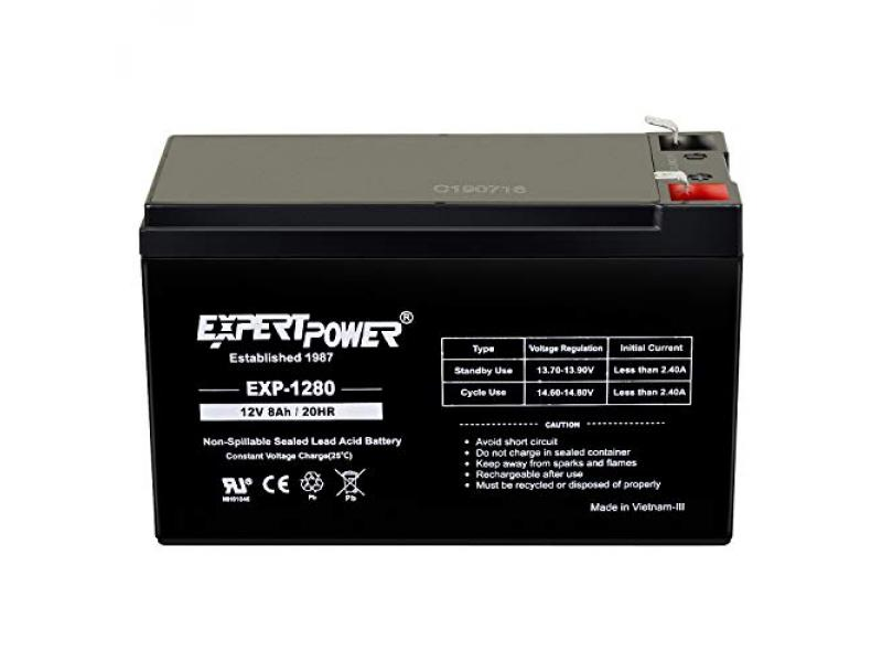 ExpertPower 12V 8AH Sealed Lead Acid (SLA) Battery Replacement