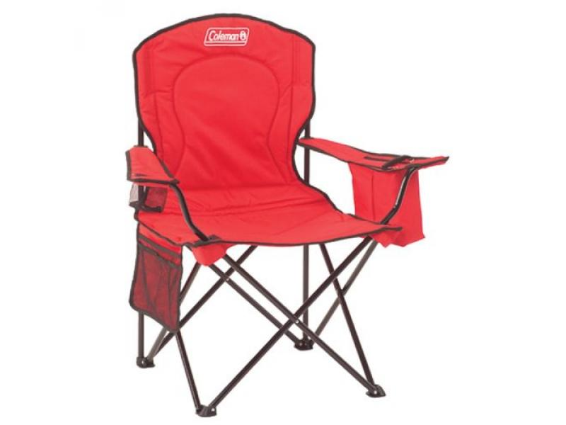 COLEMAN COOLER QUAD PORTABLE Red CAMPING CHAIR