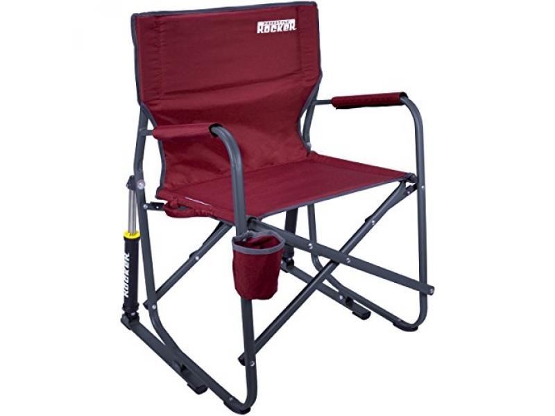 GCI Outdoor Freestyle Rocker Portable Cinnamon Folding Rocking Chair