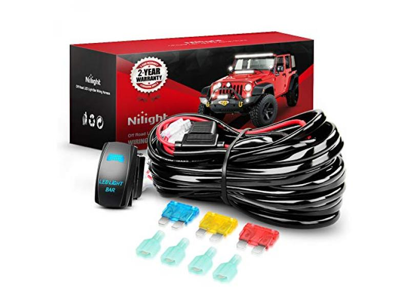 Nilight - 10015W - NI-WA 09 LED Light Bar Wiring Harness Kit