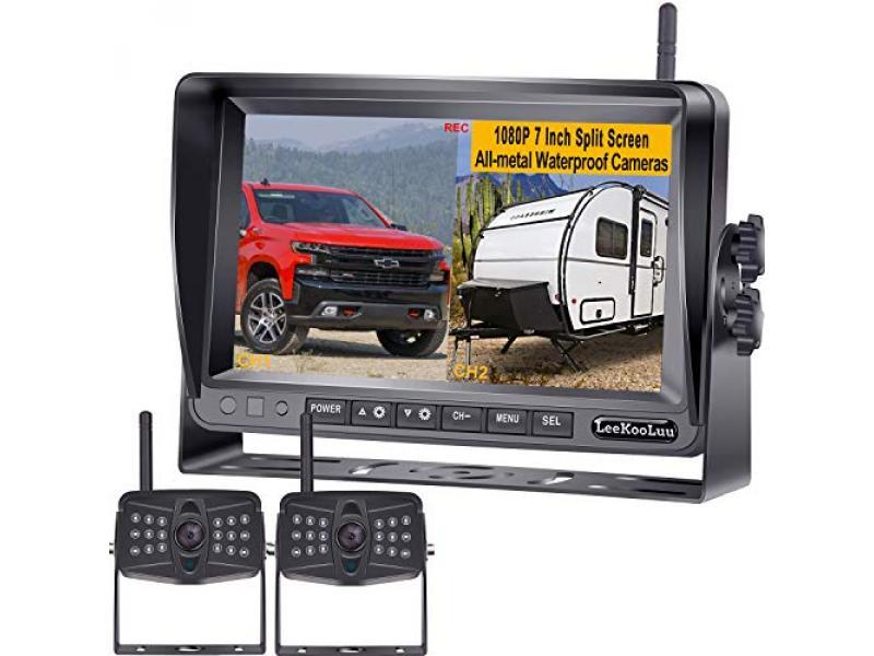 LeeKooLuu LK9 FHD 1080P DVR Digital Wireless 2 Backup Cameras