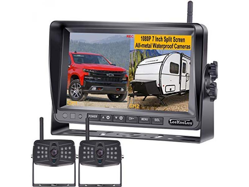 1080P DVR Digital Wireless 2 Backup Cameras