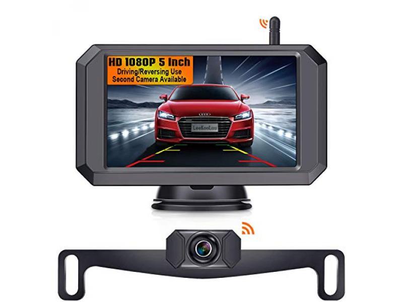 LeeKooLuu F09 5 Inch HD 1080P Wireless Backup Camera 5 Monitor Stable Digital Signals