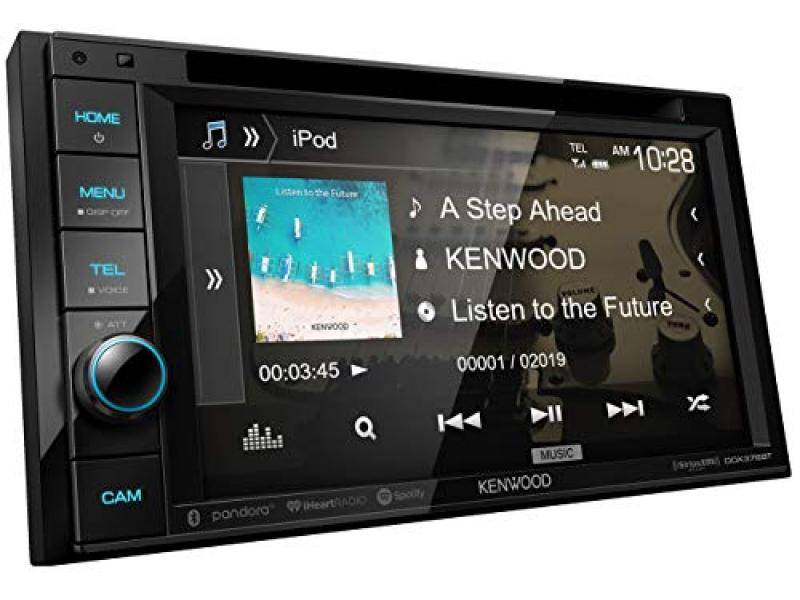 """Kenwood DDX376BT Double DIN In-Dash 6.2"""" DVD Receiver with Bluetooth"""