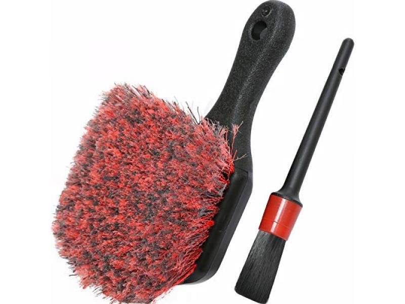 Wheel & Tire Brush, Soft Bristle Car Wash Brush