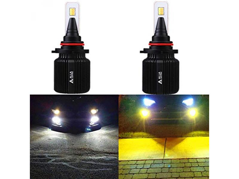 Alla Lighting 8000LM H10 9145 9005 LED Switchback Bulbs