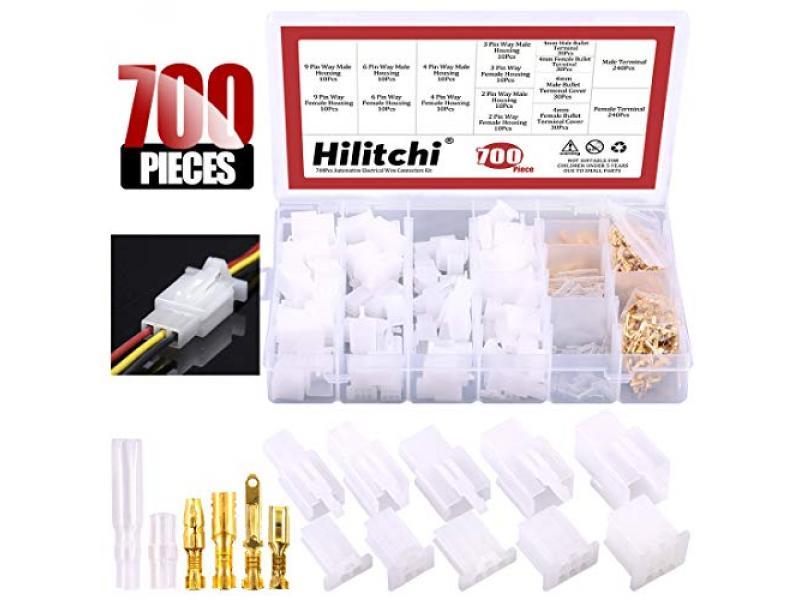 700 Pcs 2.8mm 2 3 4 6 9 Pin Automotive Electrical Wire Connectors
