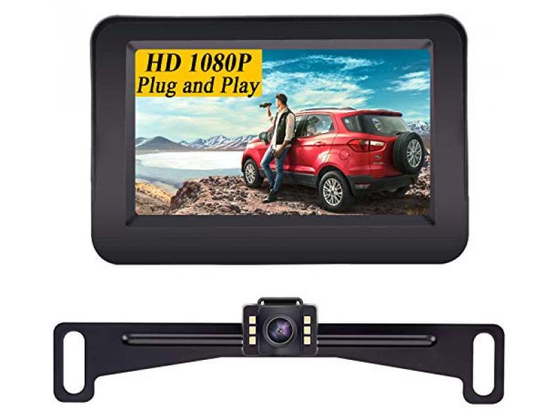 1080P Vehicle Backup Camera with 4.3 Inch Monitor