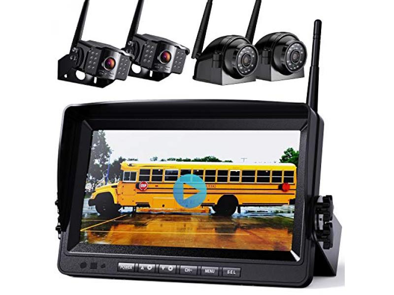 1080P Wireless Backup Camera w/ Built-in Recorder