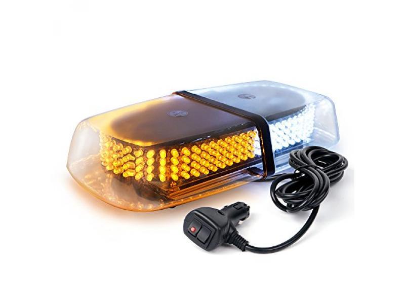 Xprite Amber White 240 LED Warning Strobe Beacon Light