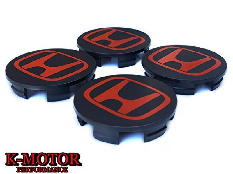 K-MOTOR SET-x4-CENTER-CAPS-HUB-CAPS-CRV-CIVIC-ACCORD-ELEMENT-ODYSSEY-PILOT-WHEEL