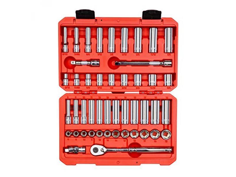 TEKTON 3/8 Inch Drive 6-Point Socket & Ratchet Set