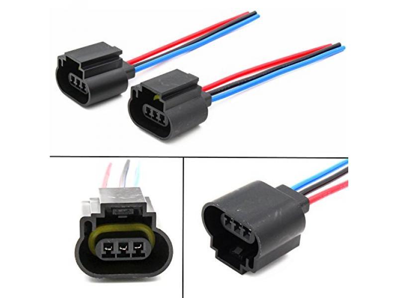 Alla Lighting 9008 H13 Socket Female Adapter Wiring Harness