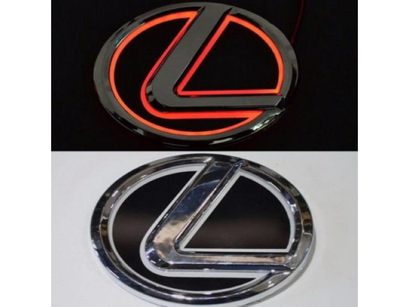 Bearfire 5D Led Tail Light Whith Original Emblem Sticker for LEXUS (Red, 1)