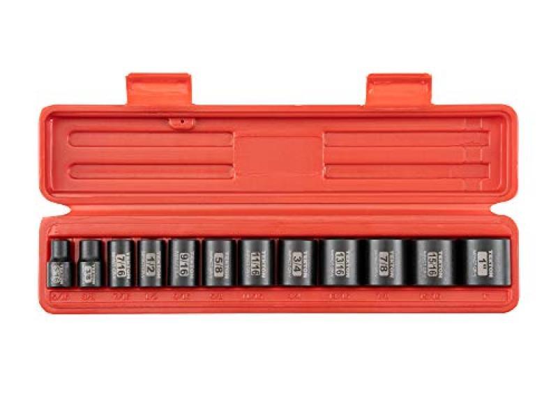 TEKTON 3/8 Inch Drive 12-Point Impact Socket Set