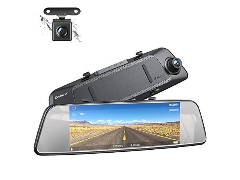 Mirror Dash Cam Front and Rear Dual Lens