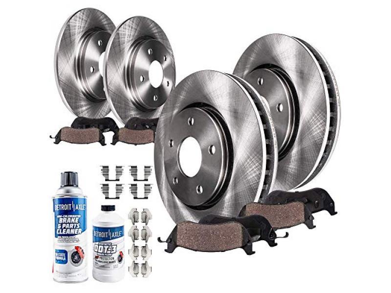 Detroit Axle - Front & 262mm Rear Disc Rotor Brake Pad Kit
