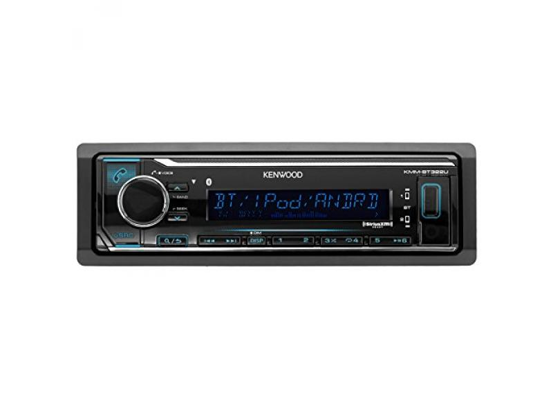 Kenwood KMM-BT315U Car In Dash Bluetooth Stereo Digital MP3 Receiver Sirius XM Ready Bundle Combo With 4 Kicker 41KSC654 6.5