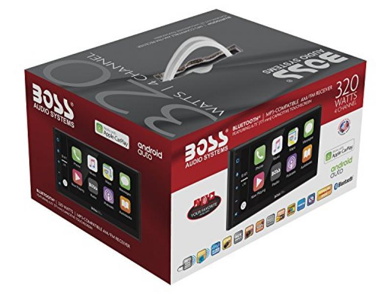 Boss Audio BVCP9675A Double Din, Apple CarPlay, Android Auto, Bluetooth, 6.75