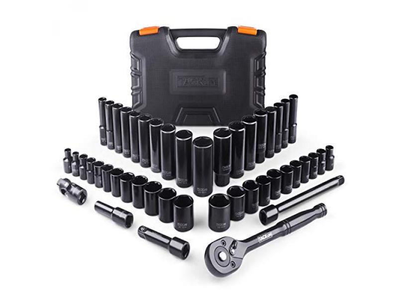 3/8 Drive Socket Set, Upgrade 47 Pieces Socket Set
