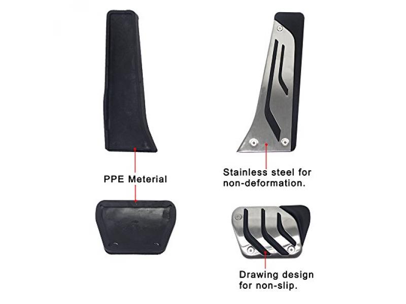 Signswise No Drill Anti-slip AT Fuel Gas Brake Pedal Cover For BMW 1 3 5 7 Series X3 X5 Z4