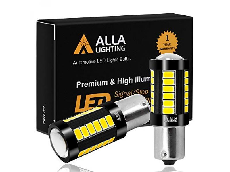 Alla Lighting 2800lm 7506 1156 LED White Bulbs 12V