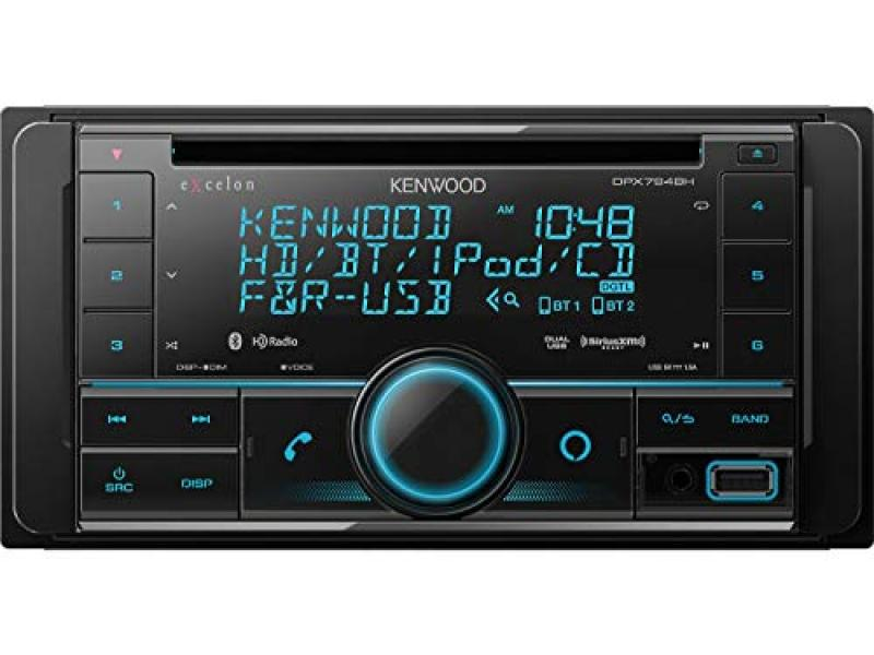 Kenwood Excelon DPX794BH Double DIN Bluetooth In-Dash Car Stereo