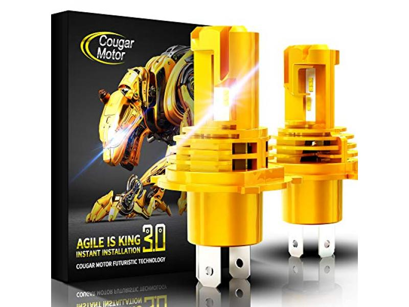 Cougar Motor Wireless H4 LED Bulb, 6500K Slim All-in-One Conversion Kit