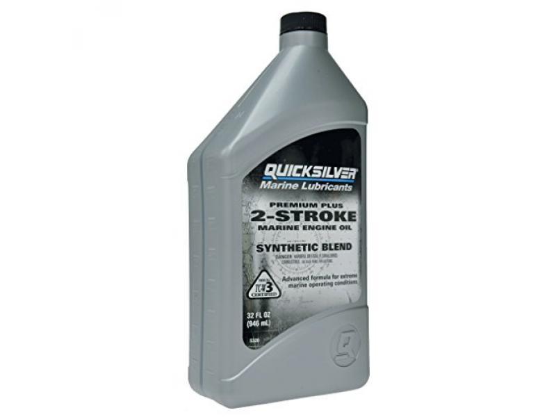 QuickSilver 27Q01 Premium Plus 2-Cycle Outboard Oil - Gray