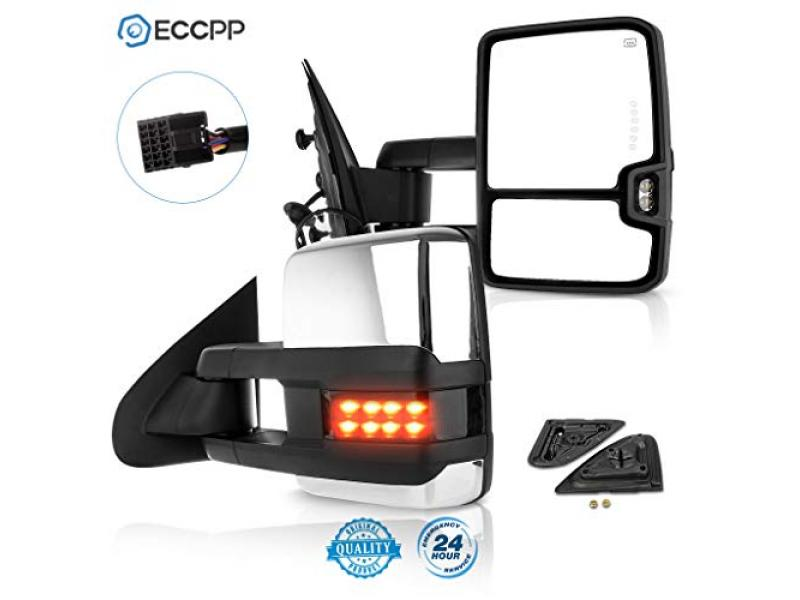 ECCPP Towing Mirrors Power Heated LED Signal