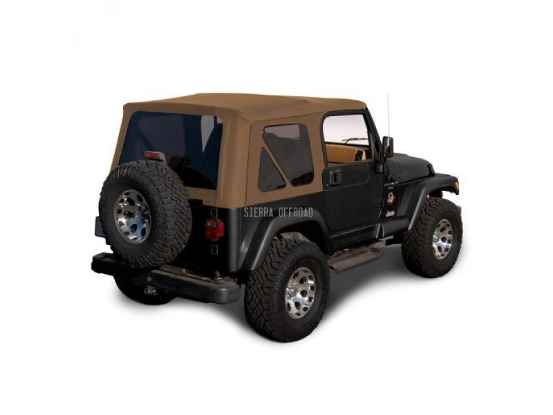 Compatible with Factory Style Soft Top with Tinted Windows