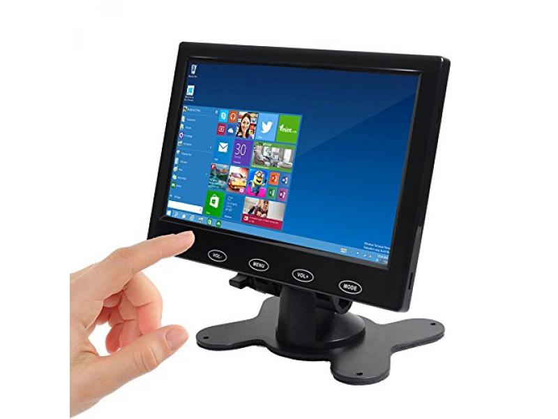 SallyBest 7 Inch Ultra Thin 16:9 HD 800x480 TFT LCD Color Display Headrest Monitor