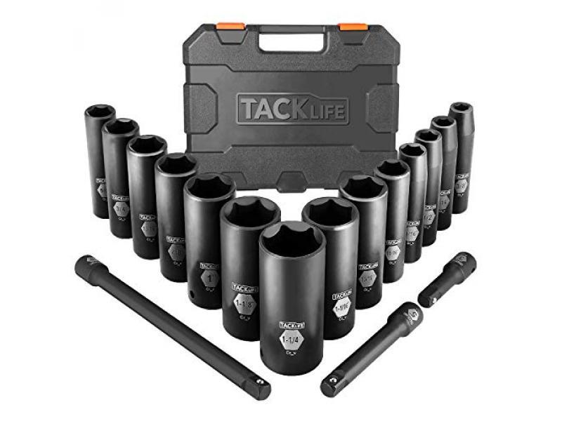 TACKLIFE Impact Socket Set 1/2-inch Drive SAE