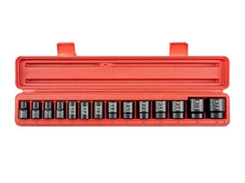 TEKTON 1/2 Inch Drive 12-Point Impact Socket Set