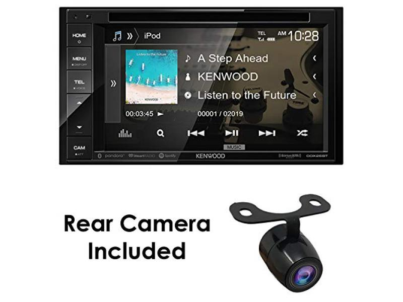 """Kenwood DDX26BT+XCTM380 Audio 6.2"""" Double Din Bluetooth WVGA Touch Screen DVD Receiver"""