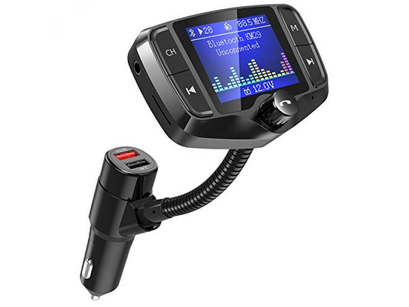Nulaxy Bluetooth FM Transmitter, 1.8 Inch Display