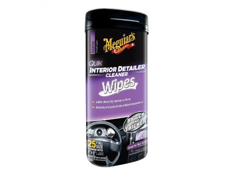 Meguiars G13600 Quick Interior Detailer Wipes 25 7