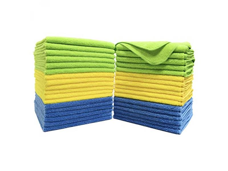 Polyte Premium Microfiber Cleaning Towel (Blue,Green,Yellow)
