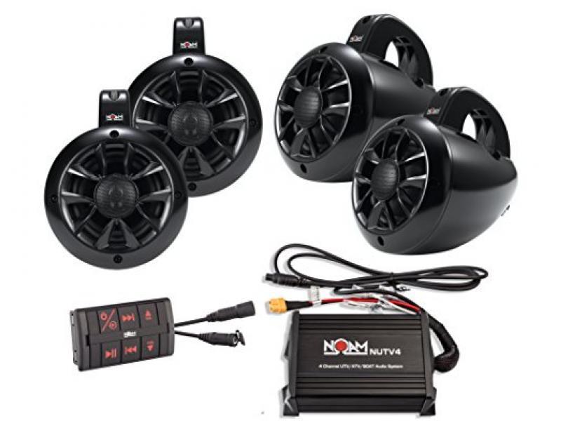 4 Channels Marine Bluetooth ATV/Golf Cart/UTV Speakers Stereo System