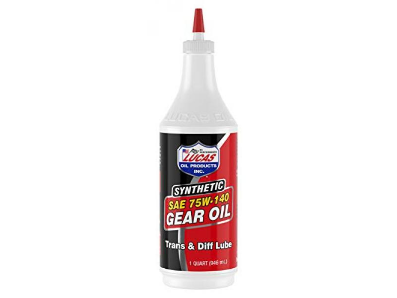 Lucas Oil 10121 Synthetic SAE 75W-140 Gear Oil, Red
