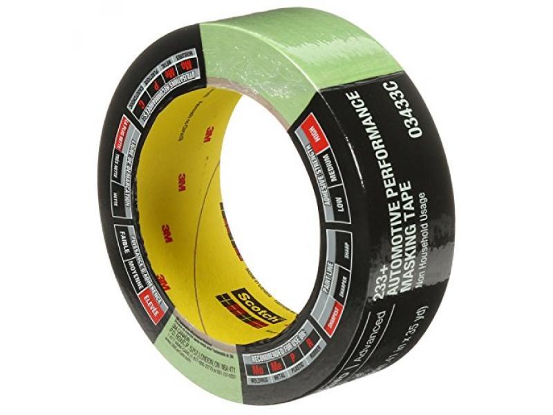 3M 6654 Yellow 36 mm x 55 m 06654 Automotive Refinish Masking Tape