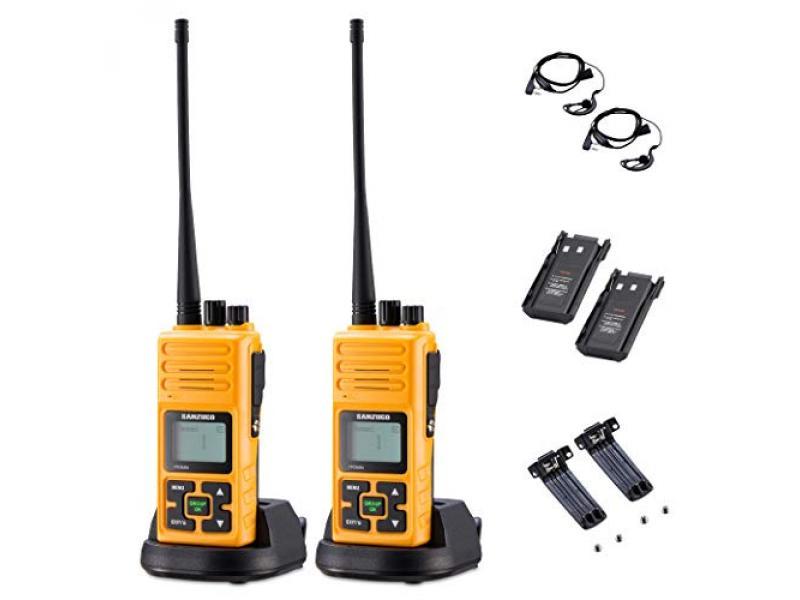 Sanzuco Long Range Rechargeable Two-Way Radio with Headset