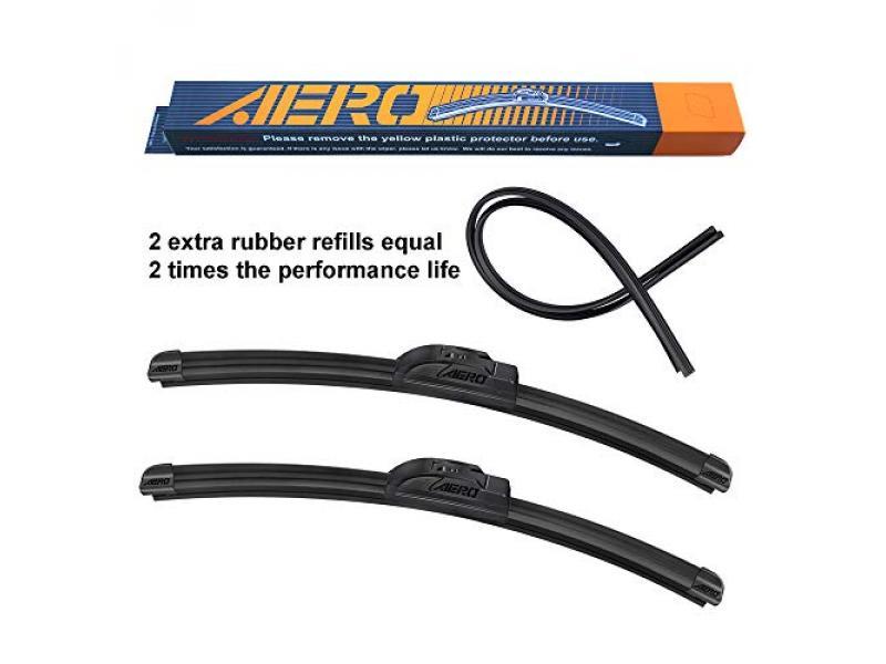 AERO Voyager 22 + 19 OEM Quality Premium All-Season Windshield Wiper Blades