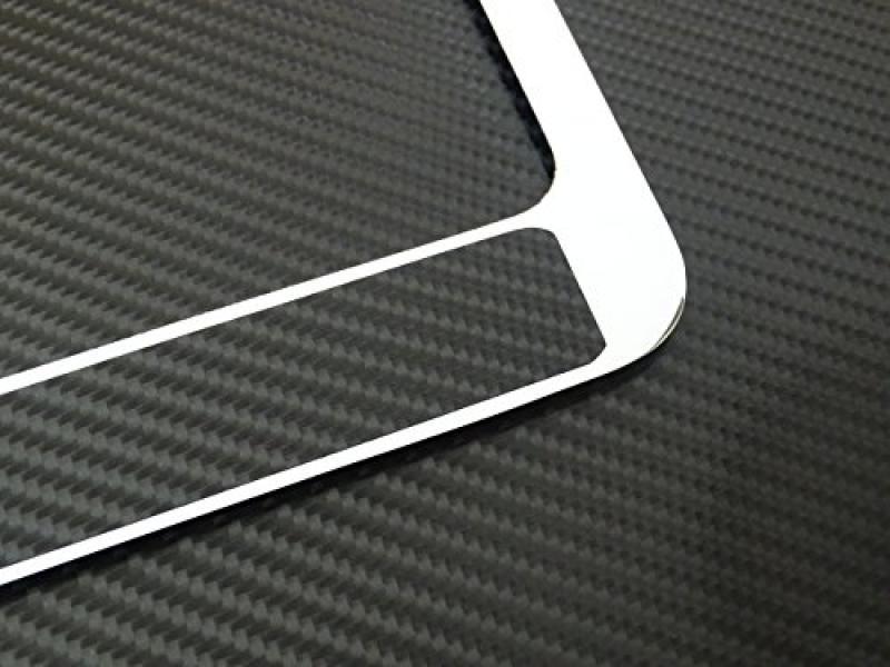 Ford mustang license plate frame chrome metal, carbon fiber details