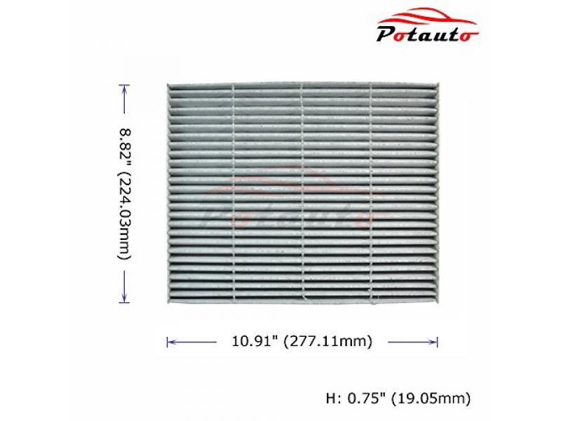 POTAUTO MAP 1061C (5-Pack) Heavy Activated Carbon Car Cabin Air Filter Replacement compatible with FORD, LINCOLN