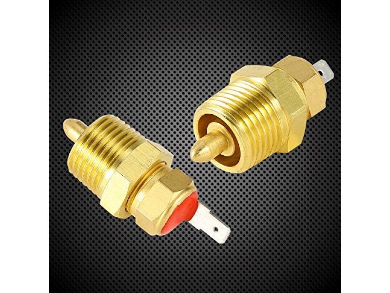 American Volt Electric Radiator Fan Thermostat Switch 1//8 1//4 3//8 1//2 Inch NPT Temperature Sensor Thread-in Push Probe 1//4 NPT, 210F On - 195F Off