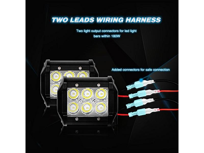 Nilight LED Light Bar Wiring Harness Kit 12V On off Switch Power Relay Blade Fuse for Off Road LED Work Light Bar